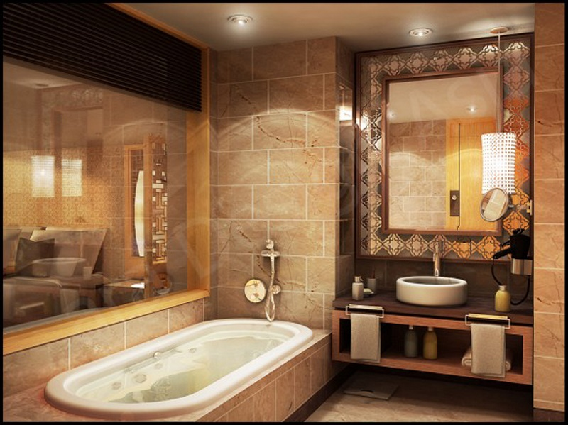 Luxurious Design Of A Small Bathroom Luxury Decoration