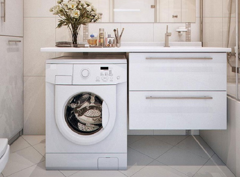 5 fantastic ideas to place the washing machine in a small ... on Small Space Small Bathroom Ideas With Washing Machine id=62740