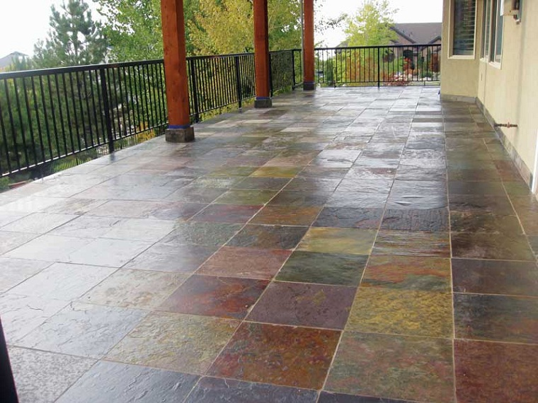 Construction Of Waterproof Deck Over Living Space With Ceramic Tiles