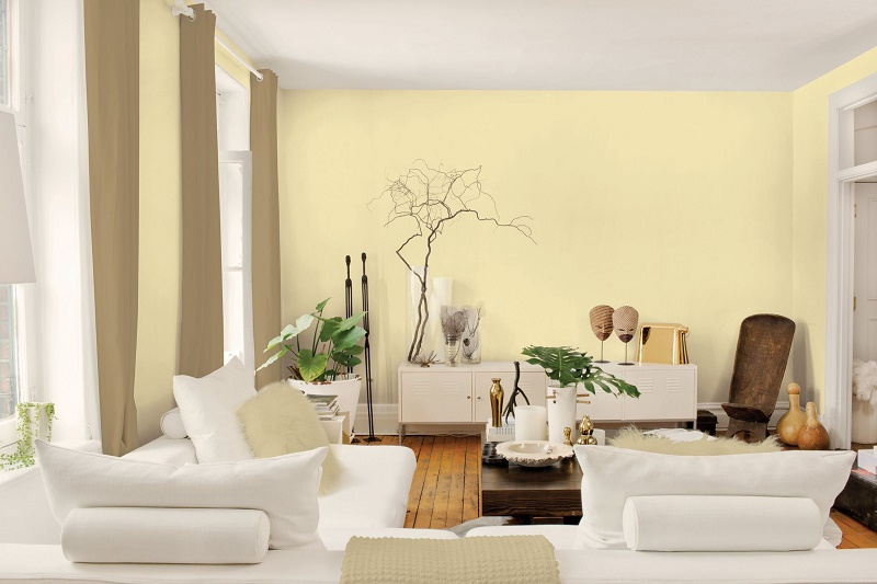 Paint light colored walls