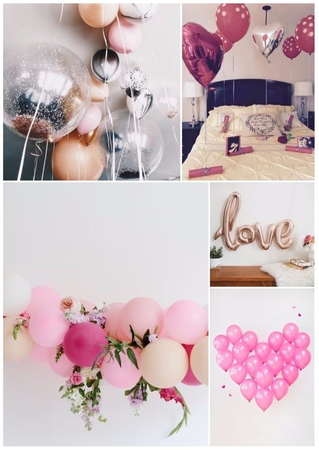 Decorate with balloons