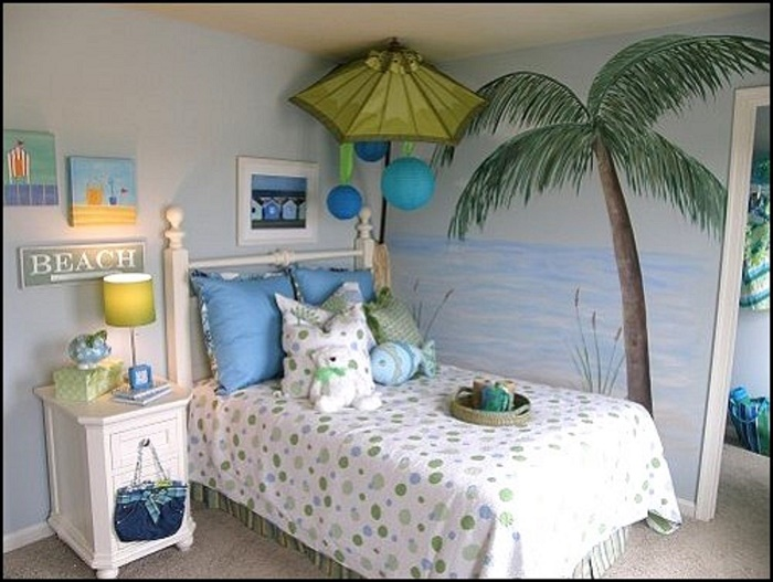 beach themed bedroom for teenager