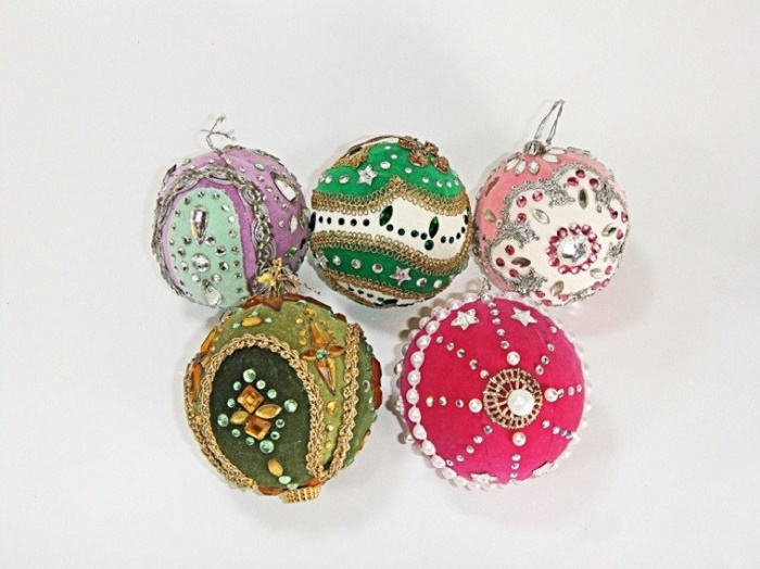 Christmas balls in vintage style